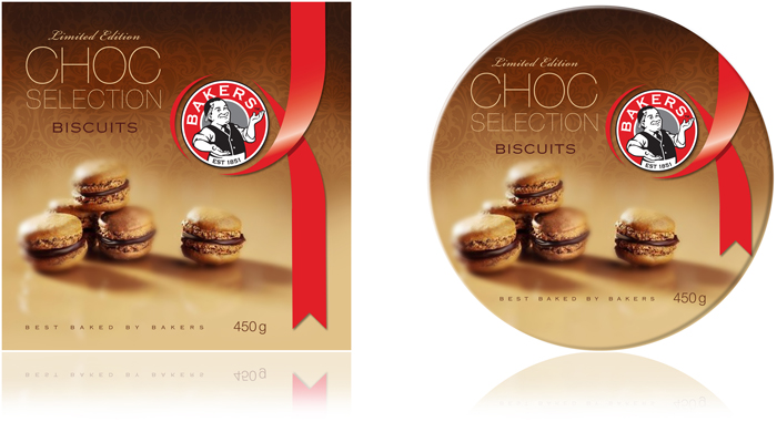 Bakers Biscuits. Packaging - Open here for design