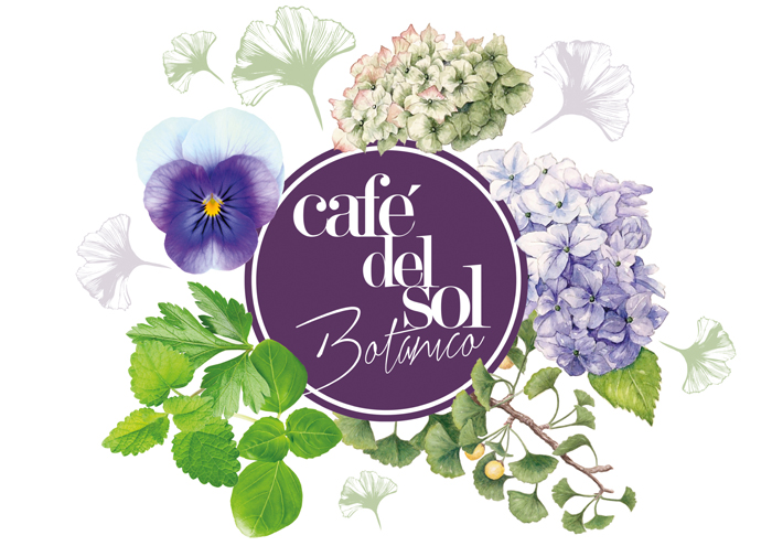 Cafe Del Sol Botanico. Menu - Open here for design
