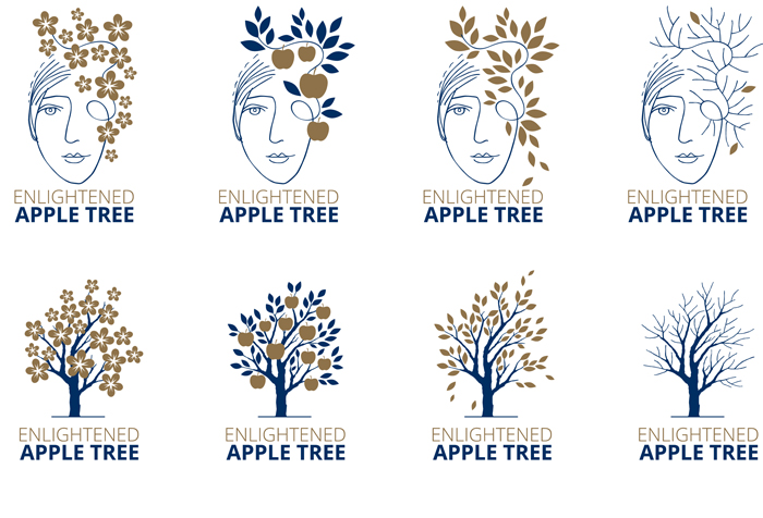 Enlightened Apple Tree. Identity - Open here for design