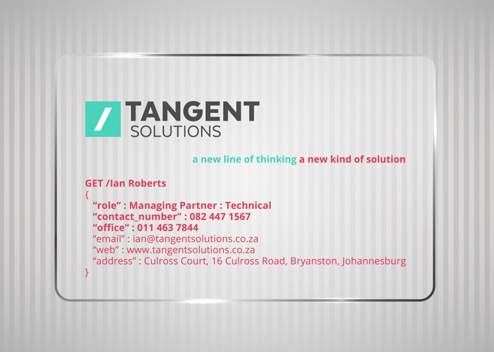 Tangent Solutions. Identity - Open here for design
