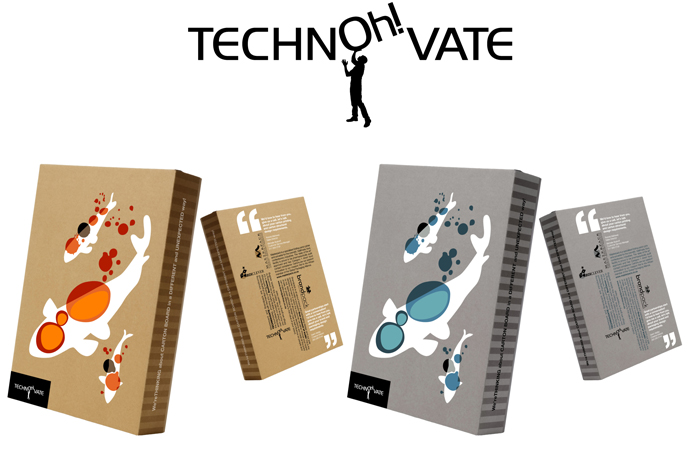Technoh!vate. Logo. Packaging - Open here for design